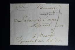 Germany: Complete Letter R 3 Coburg: 20-3-1803.PD 38 Mm -> Beaune France Wax Seal - [1] ...-1849 Prephilately