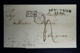 Germany:  Complete Letter   Bade Strasbourg -> Constanz -> Avignon France 1858   B.6K. In Back - Germania