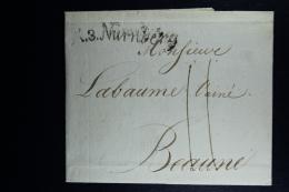 Germany:  Complete Letter  K3.Nurnberg -> Beaune France 1806 - [1] ...-1849 Prephilately