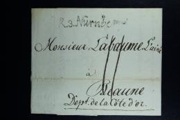 Germany:  Complete Letter R3  Nurnberg -> Beaune France  1807 - [1] ...-1849 Prephilately
