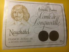 3902 - Comte De Longueville Neuchâtel Suisse - Etiquettes