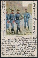 1901 Germany Bayern Infanterie Deutsche Armee Patriotic Postcard - Patriotic