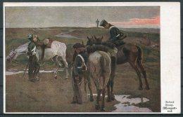 1927 Germany Robert Haug Morgenrot Military Cavalry Postcard - Uniforms