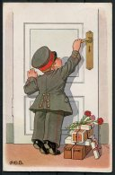 1916 Germany Leipzig Military Humour Postcard. P.O.G. Feldpost WW1 - Humour