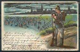 1906 Germany Military Humour Postcard - Humour