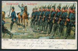 1907 Germany Military Humour Parademarsch Im Laufschritt Postcard. Steinberg Breslau - Humour