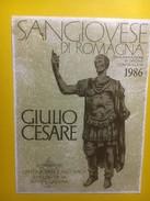 3906 - San Giovese Di Romagna Giulio Cesare 1986 Italie - Etiquettes