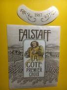 3907 - Falstaff 1987 La Côte Suisse - Etiquettes
