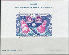 Nouvelle-Caledonie 1981. Michel Bl.#4 MNH/Luxe. 20th Anniversary Of The First Manned Space Flight. (Ts56)
