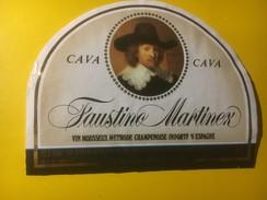 3909 - Faustino Martinez Vin Mousseux Méthode Champenoise Espagne - Etiquettes