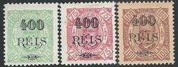 Portuguese Guinea  1902 Sc#86-8  Surcharges Set MH*  2016 Scott Value $11.50 - Guinée Portugaise