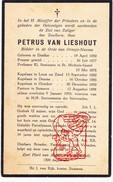 DP ZEH Priester Pastoor Kapelaan Van Lieshout - Oranje Nassau Dinther Gestel Loon Op Zand Deurne Oirschot Someren - Images Religieuses
