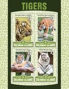 SOLOMON ISLANDS 2016 SHEET TIGRES TIGERS FELINES FELINS FELINI RAUBKATZEN FELINOS WILDLIFE Slm16121a - Solomoneilanden (1978-...)