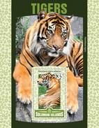SOLOMON ISLANDS 2016 SHEET TIGRES TIGERS FELINES FELINS FELINI RAUBKATZEN FELINOS WILDLIFE Slm16121b - Solomoneilanden (1978-...)