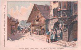 Trinquier-Trianon, Village Suisse Paris 1900, Arcades De Berne, Litho (703) - Illustrateurs & Photographes