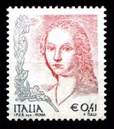 ITALIA Repubblica 2003 Donna Nell'arte Euro 0,41 € MNH ** Integro Scritta I.P.Z.S. S.p.A. - ROMA - 6. 1946-.. República