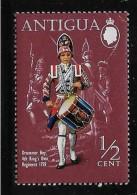 ANTIGUA , 1970, MH,   # 262,  MILITARY UNIFORMS  DRUMMER BOY  MH - Antigua Et Barbuda (1981-...)