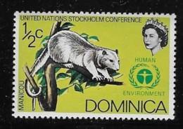 DOMINICA  1972, MNH # 337   Common Opossum  Mnh - Dominique (1978-...)