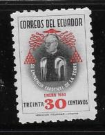 ECUADOR  1954, MLH, #582, CARLOS MARIA CARDINAL De La TORRE & Arche      MLH - Equateur