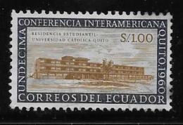 ECUADOR  1960, MNH, #662,   DORMITORY, CATHOLIC UNIVERSITY      MNH - Equateur