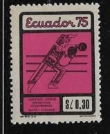ECUADOR  1975, MNH, #917,  BOXING          MNH - Equateur