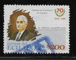 ECUADOR  1990, USED #1232 ,   Chamber Of Commerce ,70th Anniversary   USED - Equateur