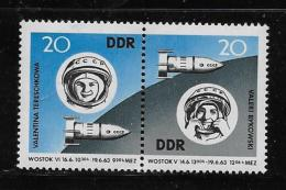 GERMANY  DDR 1963, MH # 656a  Space Flights: Bykovski  & Tereshkova  Mh - [6] République Démocratique