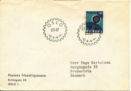 Norway FDC 2-5-1967 EUROPA CEPT Not Complete Sent To Denmark - FDC
