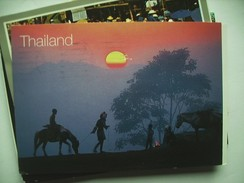 Thailand Homeward At Sunset - Thailand