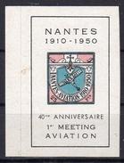 NANTES 1910/1950 - 1er MEETING AVIATION - Erinnophilie