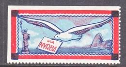 VIGNETTE  NEW YORK-RIO-BUENOS AIRES  ( NYRBA)     * - Air Mail