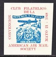 VIGNETTE  AAMC  CONVENTION  CLUB FILATELICO  CUBA  1948    ** - Air Mail