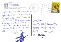 20H:Slovenia Bird Stamp Used On Multi View Postcard - Slovenia