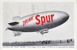 """GOODYEAR   BLIMP  """" RELIANCE """"  AD FOR CANADA DRY  """" SPUR """" USED 1940 - Air Mail"""