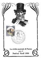 [MD0970] CPM - IN RILIEVO - PARMA - FESTIVAL VERDI - LA CIVILTA' MUSICALE DI PARMA - CON ANNULLO 3.12.1989 - NV - Parma