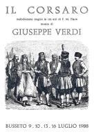 [MD0973] CPM - IN RILIEVO - BUSSETO (PARMA) - IL CORSARO - MUSICA DI GIUSEPPE VERDI - NV 1988 - Parma