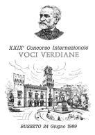 [MD0974] CPM - IN RILIEVO - BUSSETO (PARMA) - XXIX° CONCORSO INTERNAZIONALE VOCI VERDIANE - GIUSEPPE VERDI - NV 1989 - Parma