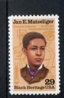 208995525 USA 1991 ** MNH SCOTT  2567 Black Heritage JAN E. MATZELIGER - United States