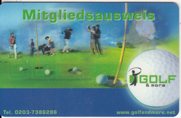 GERMANY - Golf And More, Magnetic Member Card, Used - Geldkarten (Ablauf Min. 10 Jahre)