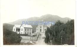 7042 ARGENTINA CORDOBA CAPILLA DEL MONTE CHURCH IGLESIA Y CERRO URITORCO AÑO 1921 POSTAL POSTCARD