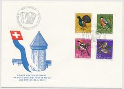 Sonderstempel 859 Akordeon Weltfstspiel Luzern - Illustrierter Sonderbrief - Poststempel