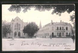 CPA Basel, Holbeinplatz Avec Französ. L'Église - BS Bâle-Ville