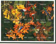 M/S MNH  GUYANA  Hummingbirds,  La GUYANE  Neuve Feuille Colibris
