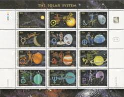 Marshall Islands, Scott 2014 # 582,  Issued 1994,  Sheet Of 12,  MNH,  Cat $ 12.00, Solar System - Marshall Islands