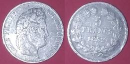 FRANCE 5 Francs Argent Louis-Philippe 1832 W - J. 5 Francs