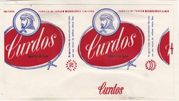 PORTUGAL AÇORES AZORES TOBACCO LABEL - CURDOS - FABRICA DE TABACOS MICAELENSE - Around Cigars