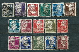 Germany, Soviet Zone 1948, MiNr 212-227 (or DDR 327-341), Used (9) - Some Nice Postmarks - Catalogue Value: 40 Euro - Zone Soviétique
