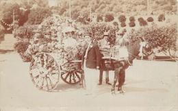 JERSEY  BATAILLE DE FLEURS 1909  CHAR FLEURI  CARTE PHOTO - Jersey