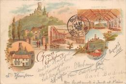 BONN  GODESBERG  GRUSS AUS   CARTE DESSINEE   VUES MULTIPLES  PIONNIERE  1895 - Bonn