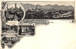 BONN  GODESBERG  GRUSS AUS   CARTE DESSINEE   VUES MULTIPLES  PIONNIERE  1896 - Bonn